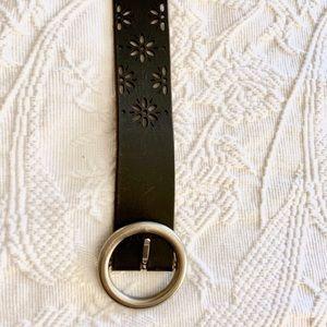 Aeropostale black leather belt